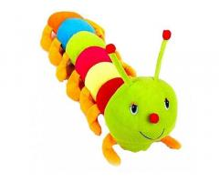 PLATONIC HUB Caterpillar Soft Toy for Kids Multicolored Plush. (60CM)