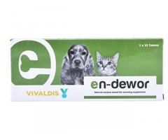 Vivaldis Endewor Natural Enzyme & Probiotic Based De-wormer for Dogs & Cats
